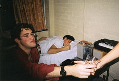 Cesc's birthday (Gary Kinsman) Tags: 2001 london film students youth fun university young hampstead hallsofresidence nw3 kingscollegelondon kcl childshill studentcampus kidderporeavenue hampsteadstudentcampus