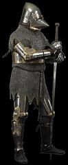 Armure médiévale (Archéomed) Tags: metal armure plastron épée heaume cotedemaille gantelet jambière basmoyenage
