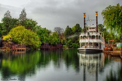 Subtle Beauty in a Dreary Day... (Ring of Fire Hot Sauce 1) Tags: longexposure reflection disneyland marktwain stormyskies riversofamerica