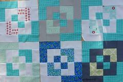 Q1 - [4x5] Modern quilt Bee blocks (espritpatch) Tags: modern grey aqua bee swap bentobox piecing 4x5modernquiltbee