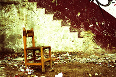 Distraught (kylerewu) Tags: chair solitary pentaxart