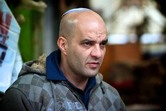 Market Man (Sarah Sonny) Tags: portrait man israel market jerusalem streetphotography 85mm angry jewish shuk kippa sarahsonny