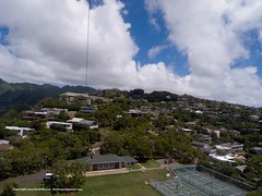 Kaimuki's Park 2 (bSlaney) Tags: city blue kite water brad landscape hawaii image oahu photos levitation sunny delta aerial photographs tropical honolulu kap rise 2012 slaney kaimuki wilhelmiina bslaney stratusphoto