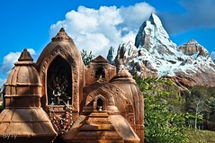 Shrine at the base of Mount Everest (typuppetguy) Tags: mountain temple shrine asia florida disney everest animalkingdom disneysanimalkingdom expeditioneverest mounteverest disneymountain