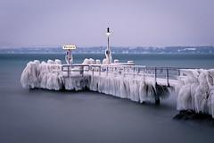 Versoix (PhiiiiiiiL) Tags: ice water schweiz switzerland nikon wasser swiss jetty lac national leman eis geographic steg langzeitbelichtung genf versoix d300 genfersee nd30 mygearandme mygearandmepremium mygearandmebronze mygearandmesilver anlagesteg