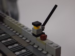 Closeup of the fisherman. (Brother Steven) Tags: train lego moc miniscale