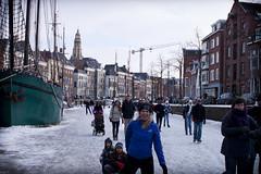 Groningen: Schaatsen op de diepenring (Frenkieb) Tags: groningen ijs schaatsen noorderhaven binnenstad koek diepenring zopie