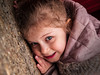 Portrait on the ground (Frisket) Tags: portrait girl garden outside child daughter olympus e1 zuiko 1454mm