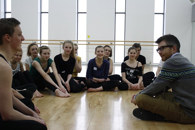 Gareth Malone working with the young performers