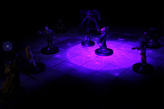 The Lair of the Mindflayer (pukunui81) Tags: longexposure canon dark miniatures fighter purple zombie magic dungeon rogue dd minis ddm demons cleric uvlight mindflayer magiccircle 550d t2i canoneos550d