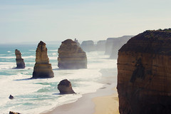 (ohclemence) Tags: ocean road beach nature beautiful rock sand great dramatic australia victoria cliffs 12 hazy greatoceanroad 12apostles twelve apostles formations