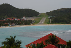 Airport, St Barts (Ballygrant Boy) Tags: sea sky house airport interesting nikon hills caribbean stbarts airstrip 24120vr d700