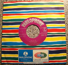 "Purchased in Cairo 1983 - ""Alfie"" - Sung in English - Made in Greece (ramalama_22) Tags: usa black france hit britain top great egypt 45 greece cairo cher single record 40 warwick burt emi dionne alfie rpm bacharach parlophone cilla"