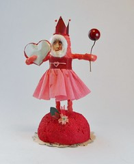 OOAK Spun Cotton Little Red Queen Girl
