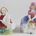 410. (2) Vintage Royal Doulton FIgures of Young Girls