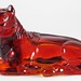 417. Art Deco Chinese Glass Horse