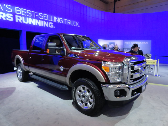 auto show toronto ontario canada ford duty super international 2012 f350