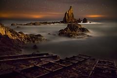 Arrecife de las Sirenas (Almería) (martin zalba) Tags: night stars landscape star noche paisaje estrellas nocturna estrella almería arrecife sirenas