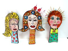 3 woman wall hanging (**mira pinki krispil-colors of life ***) Tags: art handmade journal fimo clay hang pinki wallhanging polymer