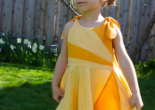 sunshine dress pieced bodice & skirt detail