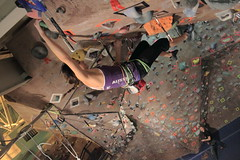 15 (Quick Draw) Tags: boy girl rock bag chalk edmonton hand competition rope climbing alberta junior gym lead hold overhang virg quickdraw
