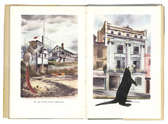 THIS IS WHERE THE DORMOUSE LIVES (GRACIA + LOUISE) Tags: england collage otter photomontage seaotter 1950 yachtclub dormouse artistsbook kingpenguin theisleofwight barbarajones graciahaby latroberegionalgallery bythisunwinkingnight thisiswherethedormouselives cliffordbarry enhydrisiutra