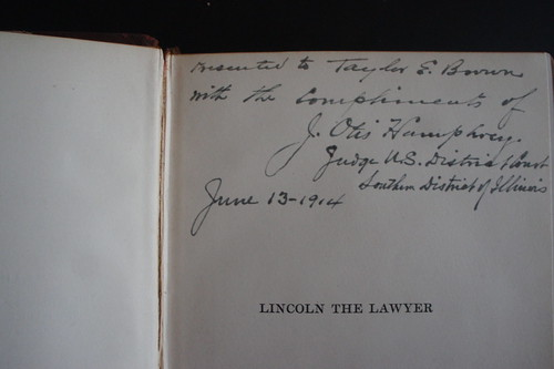 Lincoln The Lawyer Inscription