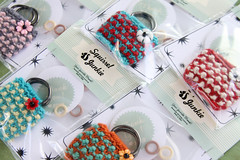 Tiny Bracelets (Squirrel Junkie) Tags: handmade knitted purses squirreljunkie