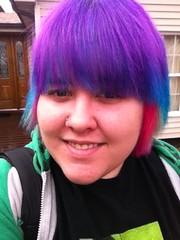 (Ty-Erin-Saurus Rex) Tags: portrait pinkhair bluehair purplehair manicpanic multicoloredhair iphoneography