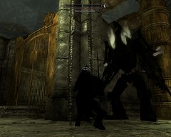 2012-03-07_00007 - How to take down a Dwarven Centurion Master without raising a sword !!! (tend2it) Tags: game beautiful fire pc screenshot frost dragon view shot character xbox battle v rpg elder breathing scrolls ps3 skyrim tesv