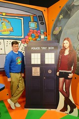 Dan and Doctor Who props in the Kids Clubhouse (Iowa Public Television) Tags: public television festival kids iowa clubhouse johnston iptv iowapublictelevision kidsclubhouse danwardell iptvfriends festival12 friendsofiptv festival2012