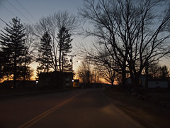 Lowell Ave Sunset Silhouette (Boneil Photography) Tags: sunset silhouette canon ma powershot g6 haverhill lowellave boneilphotography brendanoneil