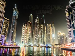 Dubai Marina @ United Arab Emirates (SGCampos) Tags: life street city windows urban building luz water skyline architecture night skyscraper marina dark photography lights dubai boulevard fuji darkness shot flat district steel united uae emirates arab wharf fujifilm nightlife framework posh lux technologies storeys overall x10 habitable sgcampos sgcam