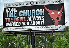 Devil Warning (podolux) Tags: signs church sign virginia nikon faith billboard christian va devil christianity 2012 dhalgren route301 us301 kinggeorgecounty usroute301 d5100 kinggeorgecountyvirginia may2012 nikkordx1855vr devilwarning