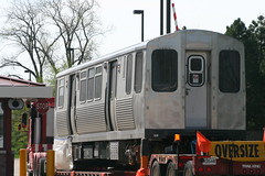 CTA Train Car Pulling In