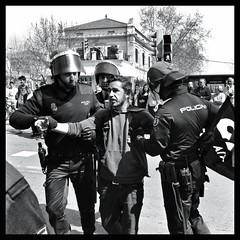Of Strike, Arrests, and Going Beyond First Impressions (Sion Fullana) Tags: urban blackandwhite bw espaa blancoynegro square spain protest streetshots streetphotography photojournalism police protesta squareformat strike mallorca journalism arrested arrest allrightsreserved pp protestors majorca periodismo vaga iphone marianorajoy partidopopular generalstrike polica detenido fotoperiodismo vagageneral urbanshots arrestos huelgageneral reformalaboral 29demarzo 29m mobilephotography iphonephotography iphoneography iphoneographer sionfullana editedanduploadedoniphone throughthelensofaniphone iphone4s mobilephotogroup periodismomvil mobilephotojournalism majorcastrike huelgaenmallorca