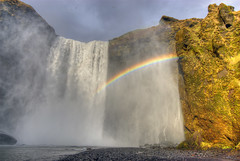 Skgafoss Waterfall & Rainbow (Thad Roan - Bridgepix) Tags: nature landscape waterfall iceland rainbow 540 facebook skgafoss 201203