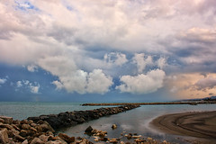 Cloudy time (grazanna) Tags: sunset sea clouds tramonto nuvole mare zachod morze chmury