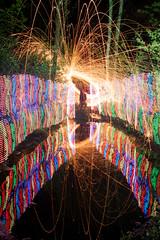 Puddle Painting (tackyshack) Tags: light lightpainting reflection painting puddle lp paintingwithlight dlw lightpainter lightphotography lightjunkie tackyshack woolspin digitallightwand ©jeremyjackson