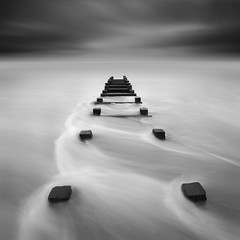 Blyth Beach (Alistair Bennett) Tags: longexposure seascape beach sunrise mono coast rocks northumberland posts blyth nd30 canonef1740mmƒ4lusm gnd075he gnd045se meggiesburn