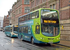 MX13AEB 4521 arriva liverpool (martin 65) Tags: road uk bus buses transport group hybrid gemini merseyside arriva 4521 crossriver wrightbus
