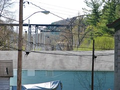 WILBUR VIEW FROM RONDOUT (richie 59) Tags: street city trestle bridge trees urban usa streets building america buildings outside us spring downtown unitedstates bridges oldbuildings sidewalk kingston newyorkstate sidewalks oldbuilding rundown nystate hudsonvalley citystreet kingstonny rondout ulstercounty traintrestle smallcity twolane 2lane midhudsonvalley americancity 2013 ulstercountyny americanbuilding 2010s americanbuildings richie59 april2013 downtownkingstonny rondoutny april272013