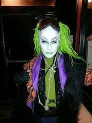 SAL-E at the Door at Smart Bar on 3-03-2013 (SAL-E) Tags: chicago club hair fur drag costume scary artist glow sale painted clown makeup queen host freak dragqueen clowns creature dreads synthetic freaks clubkid smartbar clubcreature freakdrag housemusicdanceparty