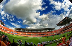 Dynamo Clouds (Tom Haymes) Tags: orange clouds texas stadium soccer houston fisheye houstontexas mls majorleaguesoccer mlssoccer houstondynamo coloradorapids dynamostadium bbvacompassstadium