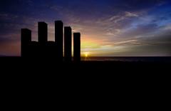 Sunrise sillouhette (PAULMKING) Tags: morning light england sky sunrise dark coast nikon north sigma east seaham sillouhette 10mm d5100 vision:sunset=0898 vision:sky=0984