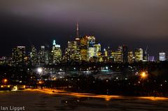 Toronto Skyline - Riverdale Park (I.C. Ligget) Tags: toronto ontario canada tower skyline night cn buildings nikon long exposure cntower skyscrapers d5100 nikond5100