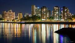 West End Nights (Clayton Perry Photoworks) Tags: canada skyline night vancouver buildings reflections lights spring bc haddenpark explorebc explorecanada