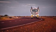 Desert Train - 1368-_MG_0343 (Robert Rath) Tags: sunset truck desert transport australia cummins roadtrain centralaustralia westernstar