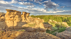 As Good As The Ocean (Wayne Stadler Photography) Tags: park travel camping sunset canada rock rural countryside afternoon country places roadtrip explore alberta sacred aboriginal prairies prehistoric formations writingonstone provincial writings southernalberta