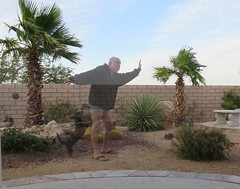 May 24, 2016 (303/365+3) (gaymay) Tags: california gay dog love fence desert palmsprings palmtrees faded selfie ozmo 365group